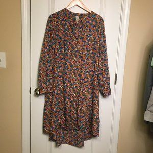 Raga Button Front Shirt Dress 1X